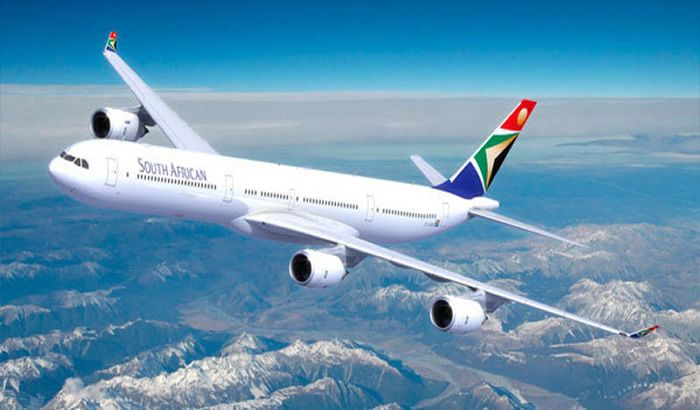 South African Airlines.....this is how  we got to Jozy!