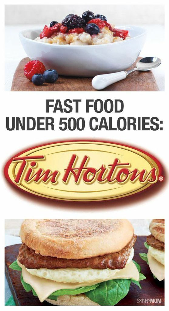 Try out our healthier options for Tim Hortons.