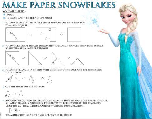 FROZEN Snowflakes Activity Worksheet