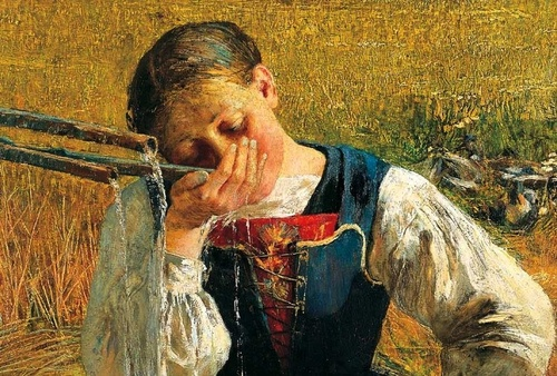 Giovanni Segantini ....Italian born Swiss Painter with a wonderful museum in St.Moritz