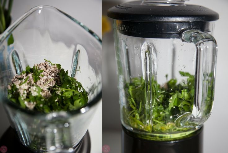 Parsley pesto made with Kitchenaid