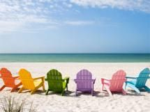 16 Amazing Beach Wallpapers You Can Download for Free: Colorful Chairs at Beach Backgrounds