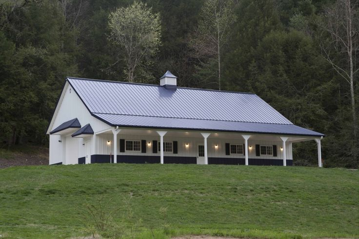 Morton buildings featured project home horse barn for Shop house combination plans