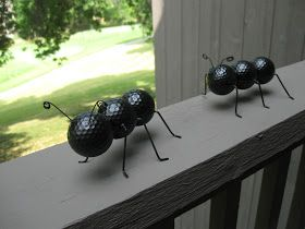 Ant, recycling golf ball craft