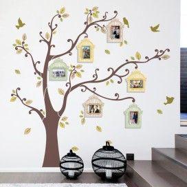 Porta Retrato de Parede Árvore Outono Cartela
