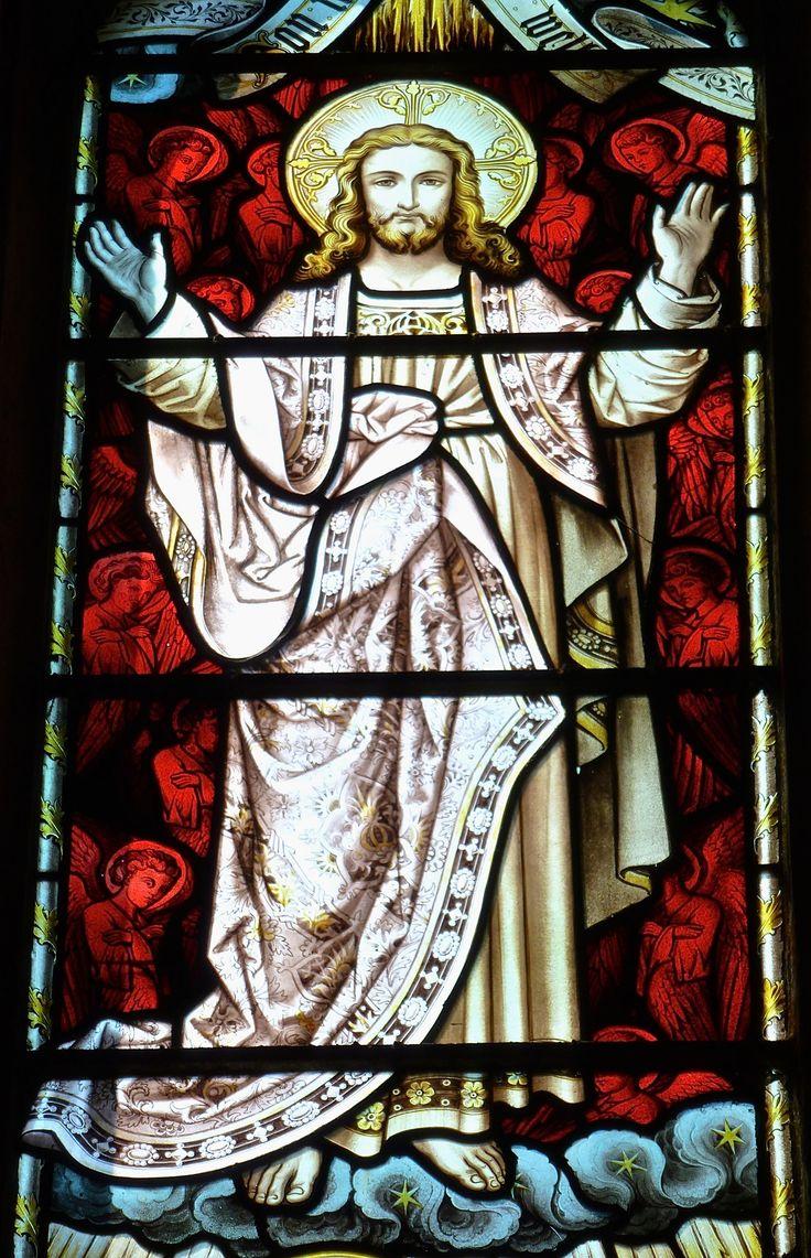 https://flic.kr/p/VtKaBL | Arundel - St Nicholas Church - Stained Glass | St Nicholas, Arundel, Sussex  Transfiguration Window.