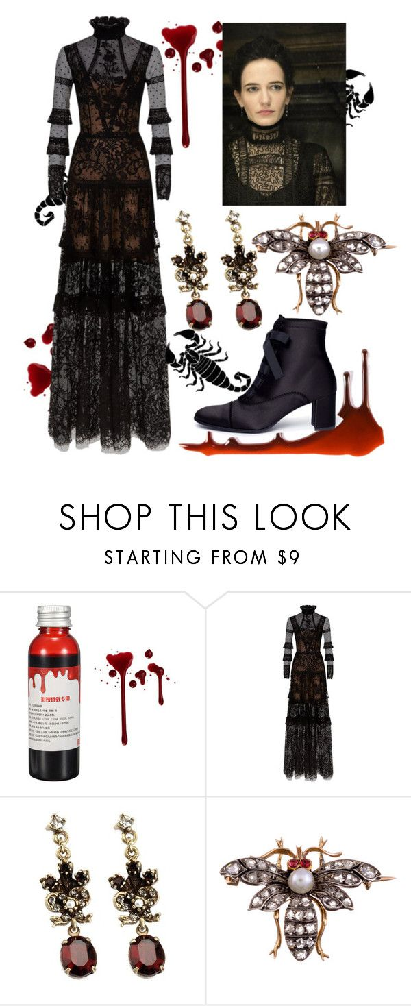 """Vanessa Ives"" by ales41 ❤ liked on Polyvore featuring Costarellos, Sweet Romance and Pedro García"