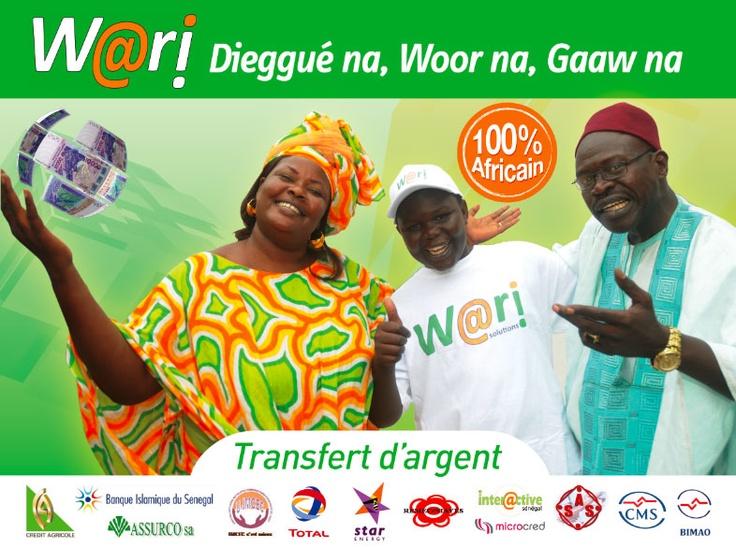 campagne d'affichage WARI transfert d'argent