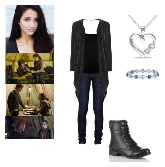 """""""Hiding, looking, missing, loving - Thea Potter"""" by hobbits-and-elves ❤ liked on Polyvore featuring Boohoo, Blue Nile, Warehouse and Haylee Jewels"""