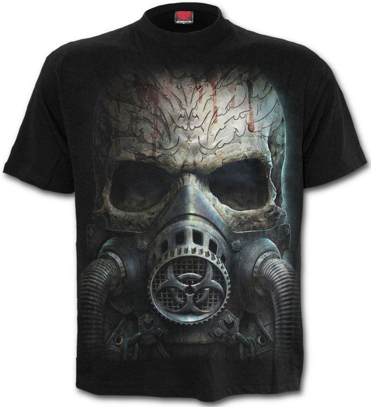 Camiseta Bio Skull de Spiral Direct #skull #calavera #camisetasrock #camisetasheavys #rock #metal #xtremonline