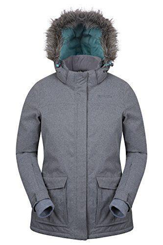 Mountain Warehouse Veste ski Femme Intérieur Tricot Braddock -30°C Pare Neige Imperméable 3000mm: Soyez élégant et au chaud avec le blouson…