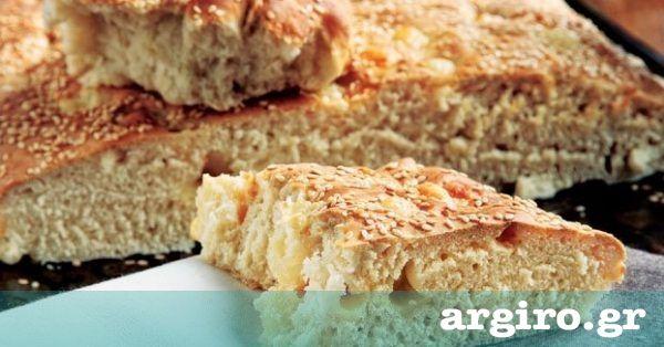 Ζυμωτό ψωμί με μαγιά και τυρί από την Αργυρώ Μπαρμπαρίγου | Στην Πάρο, όταν ήμουν παιδί και ζύμωνε η μητέρα μου, πάντα έφτιαχνε και τη φουσκωτή για μένα