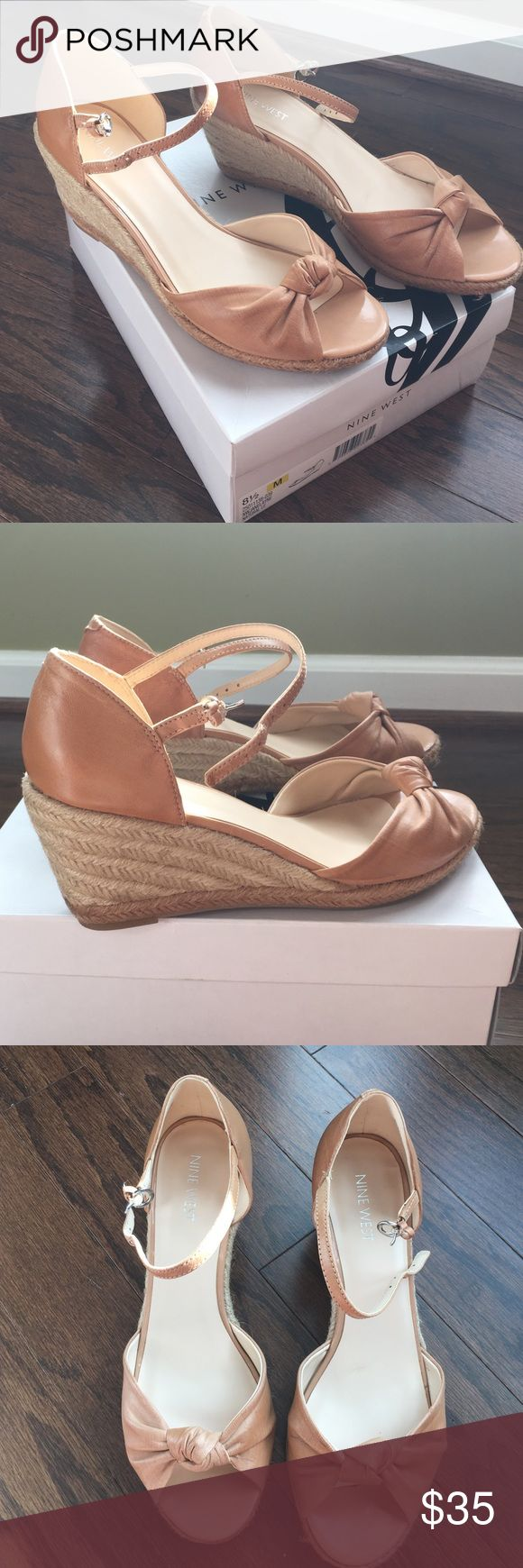 Nine West Jane Layne Wedge Natural LE color neutral wedge espadrilles. Perfect with pants, skirts, and dresses! Nine West Shoes Espadrilles
