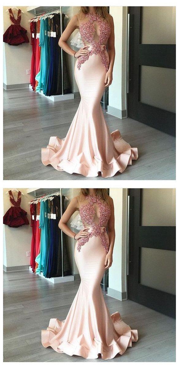 Mermaid Prom Dress,Beading Prom Dresses,Long Evening Dress
