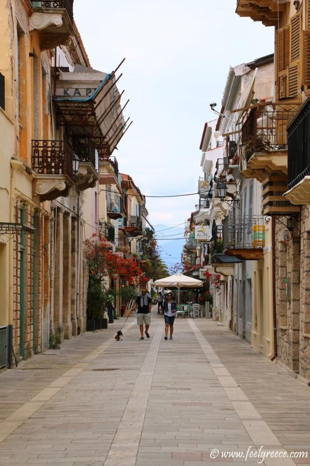 Street in the old town; photo from Nafplio