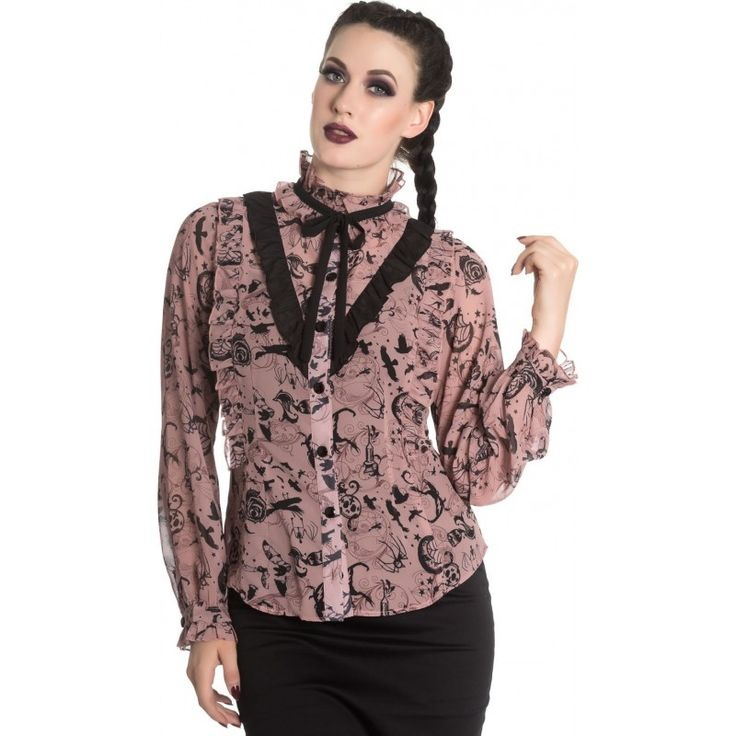 Hell Bunny - Sibyl Pink Blouse
