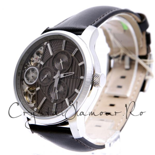 Ceas Fossil ME1098 Mechanical Twist Leather Watch Brown