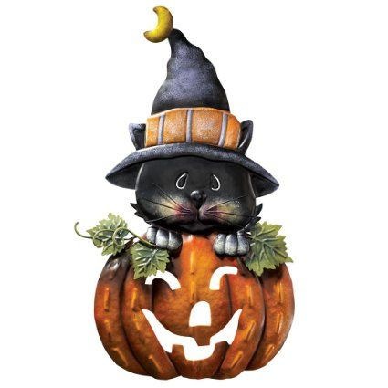 pumpkin kitty metal halloween door decoration - Metal Halloween Decorations