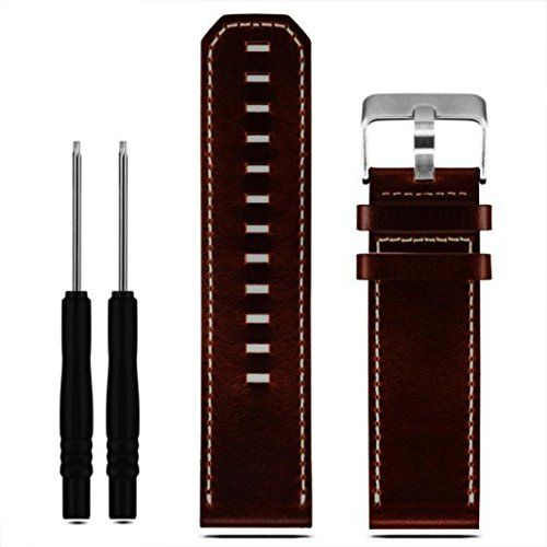 SENTER Soft Luxury Leather Strap Replacement Watch Band With Tools For Garmin Fenix 3   1.Personalized Your Apple Watch 38mm 2016 Release with this geniune leather,Fits 130-195mm wrists 3.Simple & Easy: Just slide into the apple watch slo