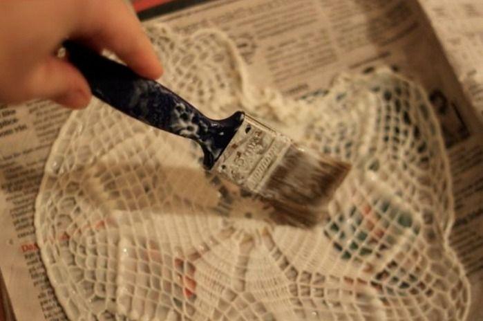Как сделать люстру из салфеток. — Мир вязания и рукоделия