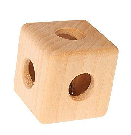 Grimms Spiel Und Holz Design Grimm's Rassel Würfel mit Glocke