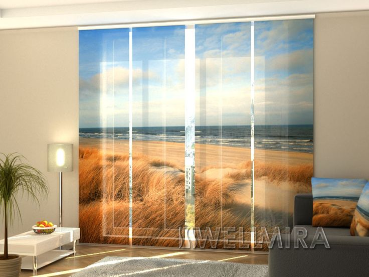 Schiebegardinen 4er Set ~ Set of panel curtains mandarin tree wellmira moderncurtains