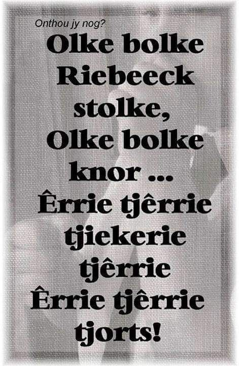 Afrikaanse uittelrympie   Olke bolke Riebeeck stolke ...