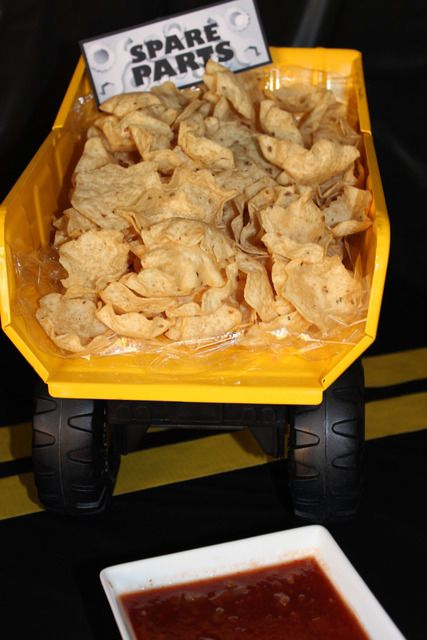 CONSTRUCTION PARTY - spare parts (but with nacho layer dip! party favourite!!)