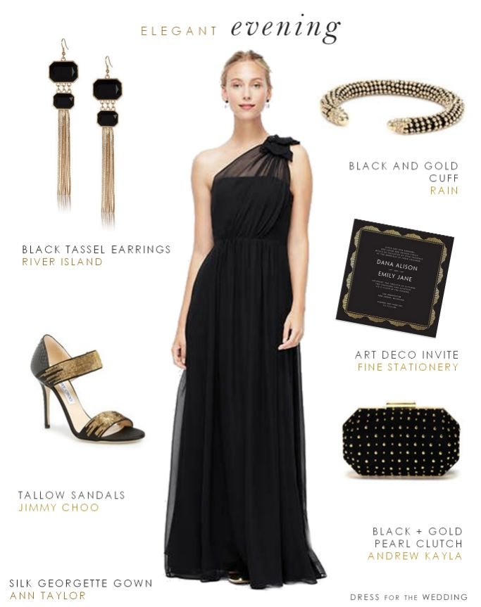 Black Evening Gown For A Wedding