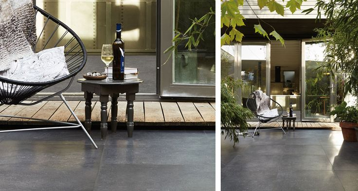 Tegels terras Duostone vtwonen - fotografie Alexander van Berge #terras #tuintegels #tuin