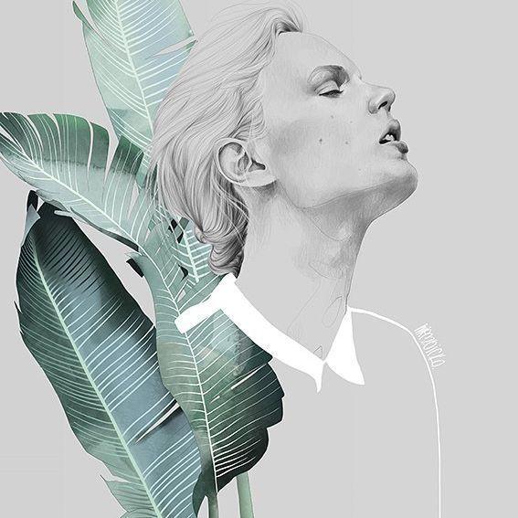 Foliage girl by Agata Wierzbicka
