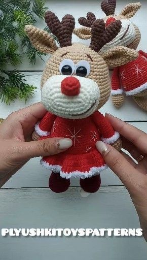 Cute little baby-girl deer crochet pattern – #15cu…