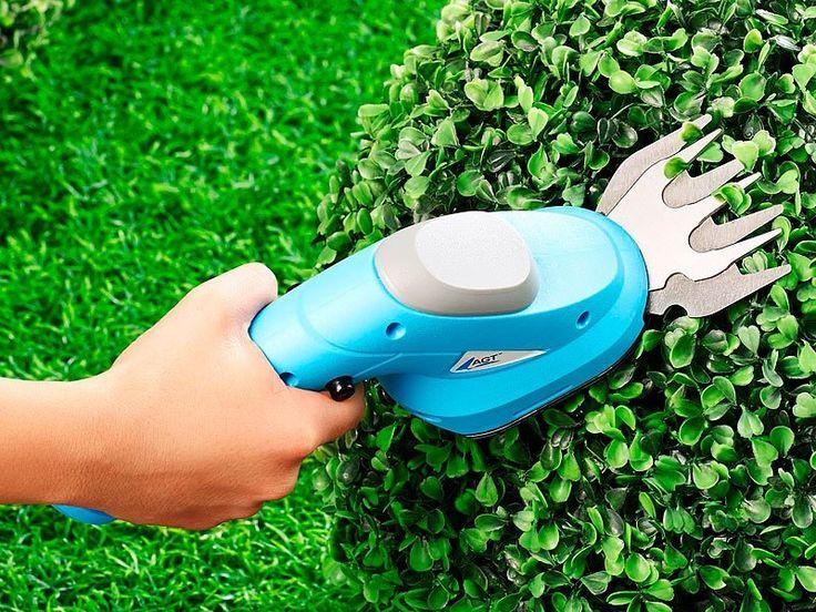 L'entretien de votre jardin facilement avec cet appareil combinant un taille-haies et un coupe-bordures électriques, sans fil grâce à la batterie.