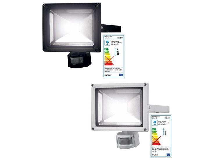 LIVARNO LUX® LED-Außenstrahler 20 W mit Bewegungsmelder 1