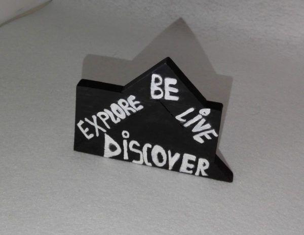 """Obiect decor lemn cu mesaje – """"Things to do"""" – Crafts Corner  Obiect de decor din lemn, vopsit și prelucrat manual.  Cod produs: DIS01"""