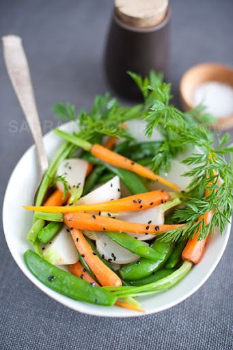 Steamed Baby Winter Vegetables. | Side Dishes | Pinterest