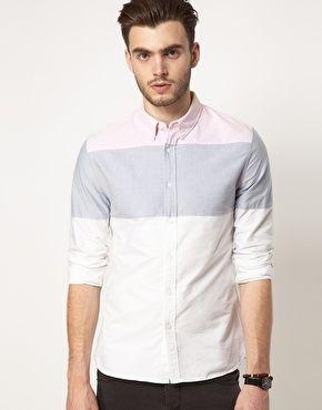 Image 1 ofASOS Oxford Stripe Shirt