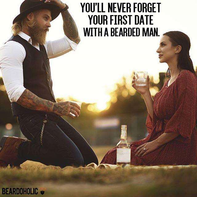 Funny girl dating bearded guy meme