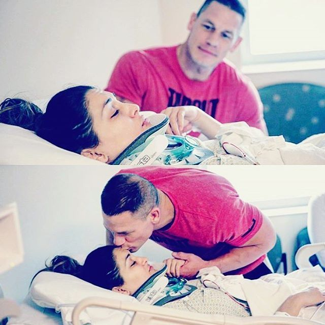 """Awww my Love John Cena ❤️ He never left my side. Best significant other anyone could ever ask for!"" - WWE Diva Nikki Bella after undergoing neck surgery"