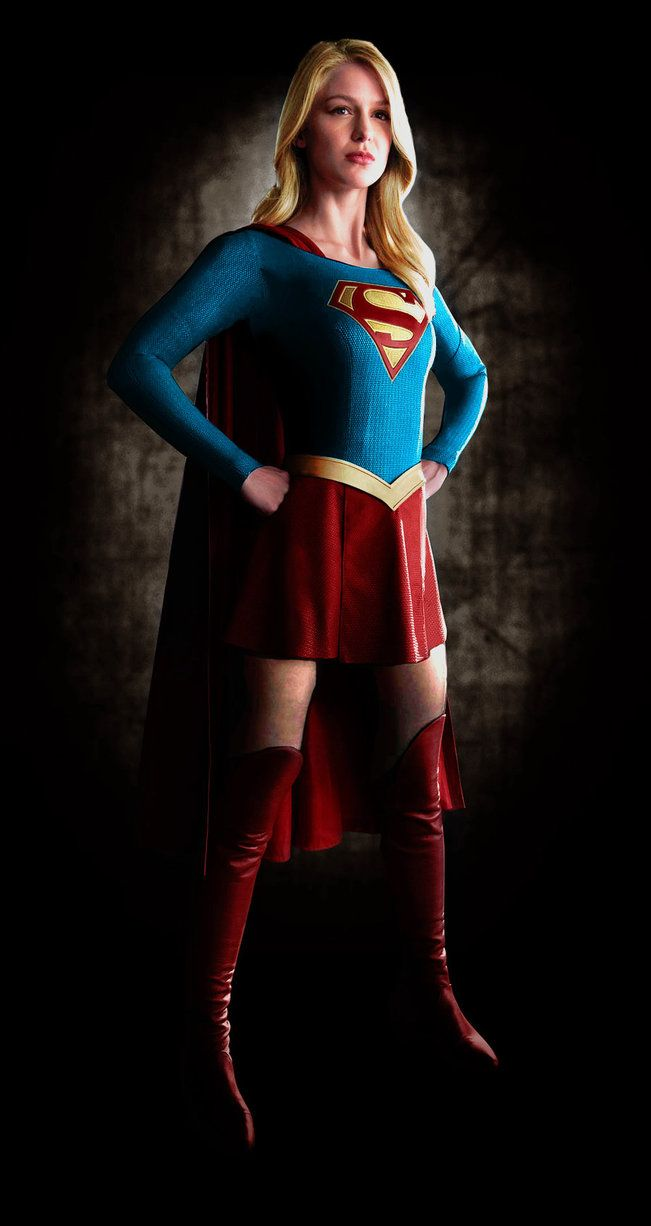 The new Supergirl---Melissa Benoist. I hope I spelled that correctly. IF not, oh well...