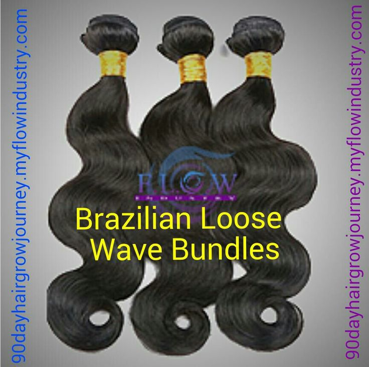 """Signature Brazilian Loose Wave human hair! Can be colored, cut, flat ironed and curled. Lasts from 6 months to a year depending on care. No shedding. No matting. No synthetic blend. Low maintenance.  1 bundle is 3.5oz. 12"""" to 16"""" lengths need 2 bundles for a full sew in. 18"""" to 30"""" lengths need 3-4 bundles for a full sew in. http://90dayhairgrowjourney.myflowindustry.com Bundles can be installed more than once. We recommend 3-4 bundles for a full head. Color: Natural 1b"""