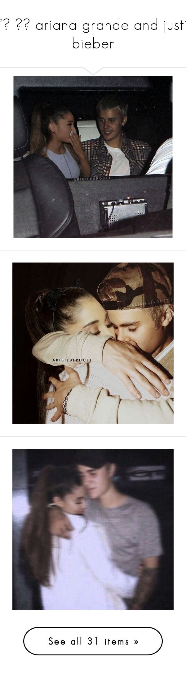 """""""♡°˖ ✧◝ ariana grande and justin bieber"""" by sassy-an0ns ❤ liked on Polyvore featuring ariana grande, ariana, justin bieber, manips, ariana manips and jariana"""