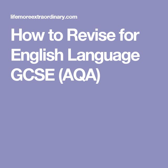 How to Revise for English Language GCSE (AQA)