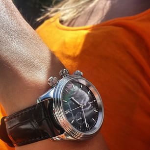 Sjöö Sandström Royal Steel Chronograph 35.5mm.  #sjöösandström #sjoosandstrom #watch #watches #watcheswoman #ladies