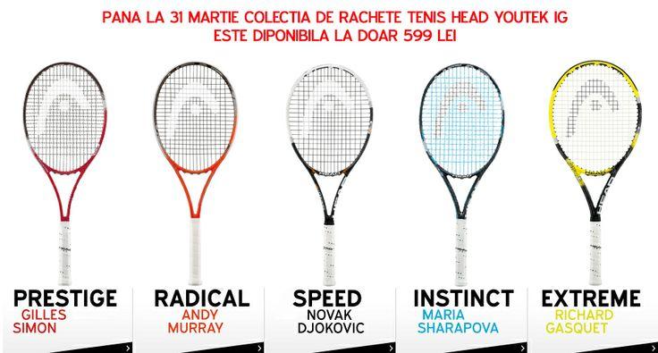 Pana la 31 Martie 2014 colectia de rachete de tenis Head Youtek IG - Speed, Radical, Instinct si Extreme este la pretul special de 599lei! Profita la maxim! http://www.tenisshop.ro/Tenis-De-Camp/Rachete-Tenis/Produse=La%20Promotie-Producator=Head/Filtrare.html