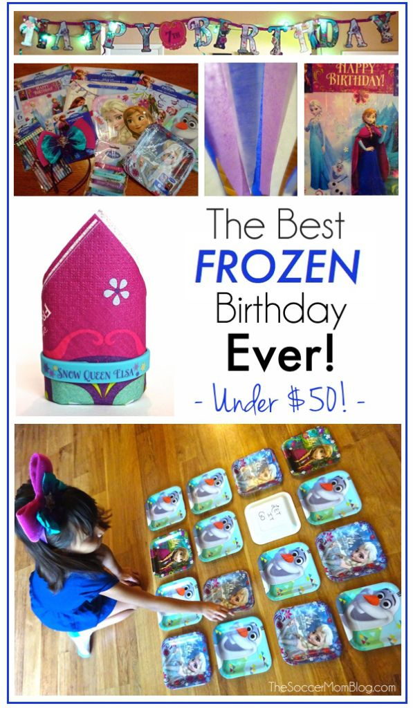 How to throw the best FROZEN birthday party ever -- all for less than $50! DIY decor ideas, activities, and more! #BDayOnBudget #ad