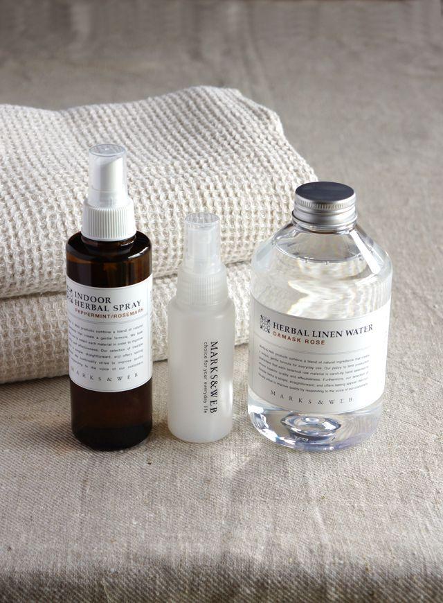 R journal: Herbal linen water and Indoor herbal spray┃Marks & Web