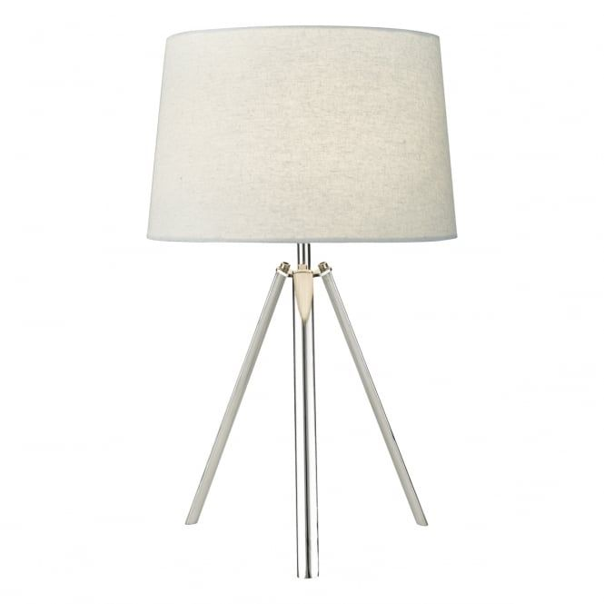 Best 25 tripod table lamp ideas on pinterest bedside lamps a contemporary polished chrome tripod design table lamp complete with a grey linen shade the lamp is individually switched by an inline rocker switch greentooth Choice Image