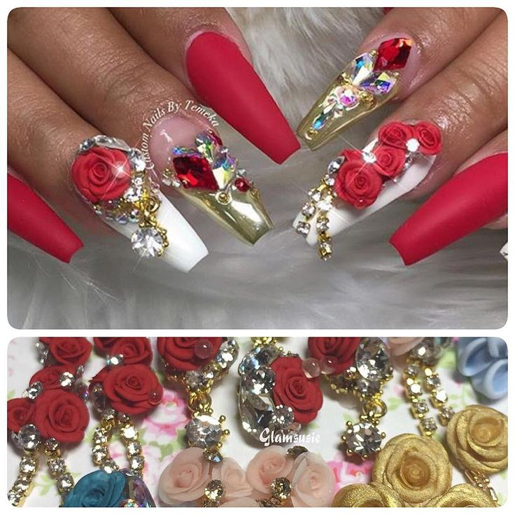 @customtnails1 is slayinggggg with this set  Charms available from my etsy online shop (link is in my bio) #nailvideos #instagood #gyaru #notd #nails #nailfie #nailart #acrylic #acrylicclass #acrylicnails #3d #3dflowers #3dnails