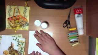 Húsvéti kép szalvéta technikával, via YouTube.